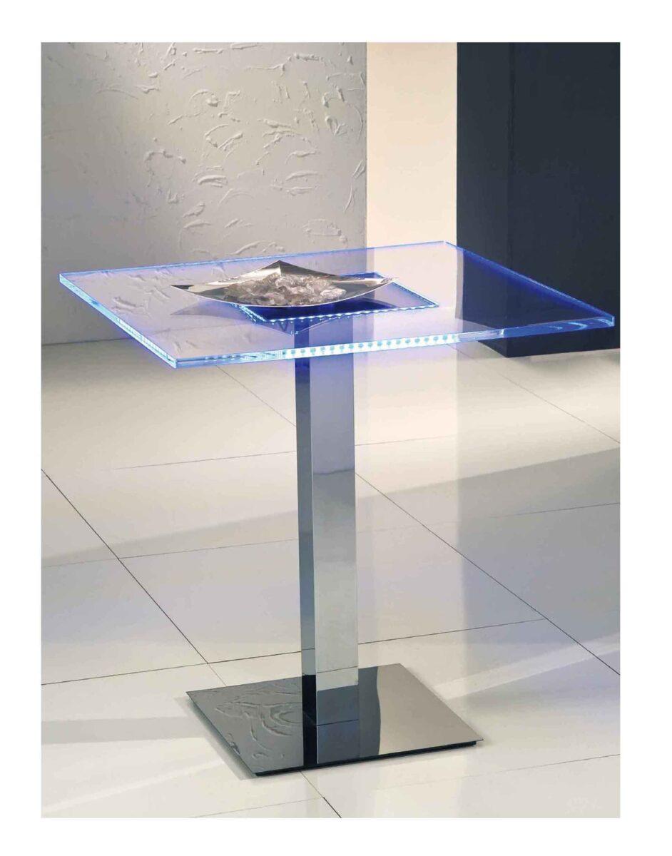 Tavolo Tondo Plexiglass.Tavolo Plexiglass E Led Per Discobar