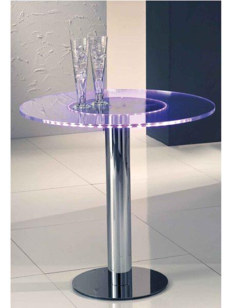 Tavoli Cromo Lucido Plexiglass Led per Discoteche