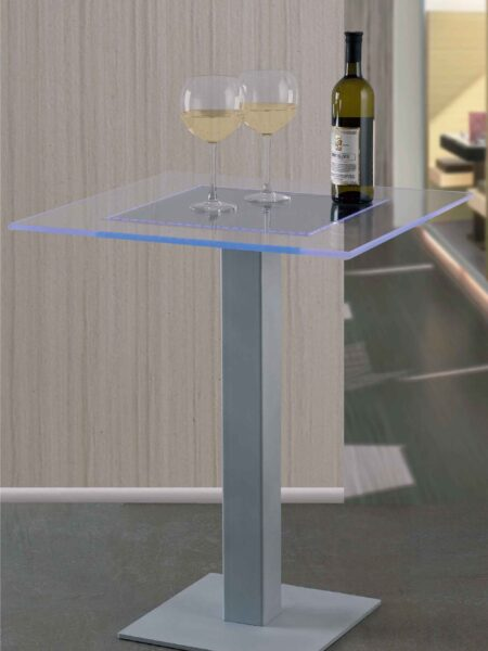 Tavolo Plexiglass e Led RGB per Wine Bar
