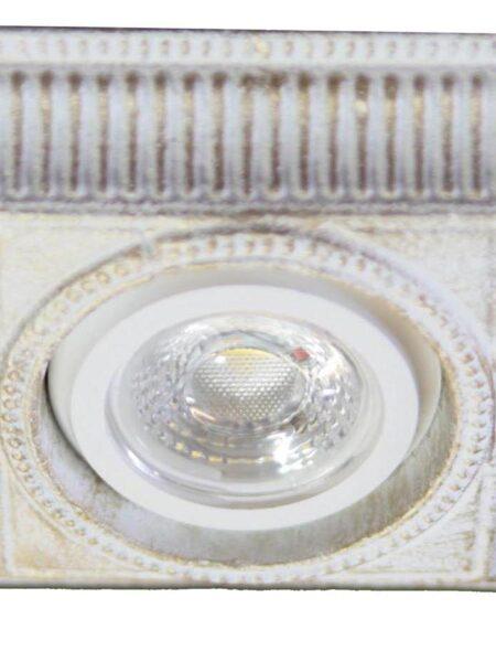 Faretti Shabby Bianco Oro Decorato a Mano