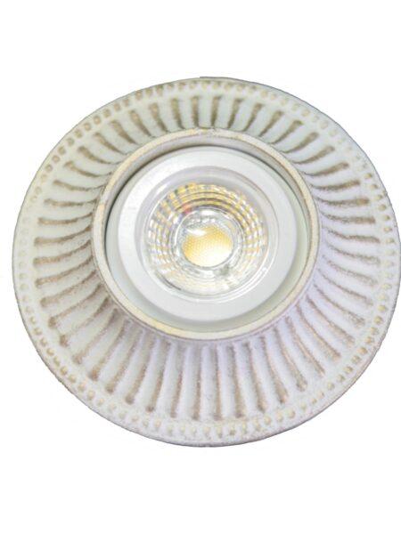 Faretti Shabby Oro Bianco Stile Provenzale