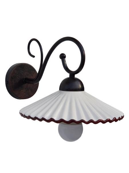 Applique Ceramica Decorata a Mano Plissè Marrone