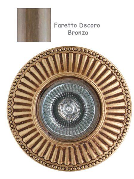 Faretto Incasso Classico Fusione Decoro Bronzo