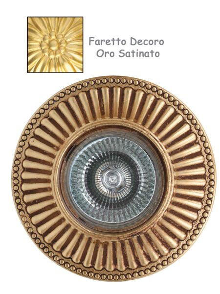 Faretto Incasso Classico Fusione Oro Satinato
