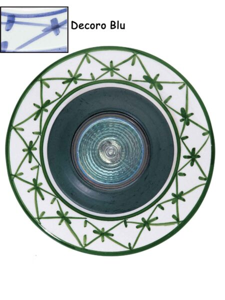 Faretto Incasso Ceramica Artigianale Blu