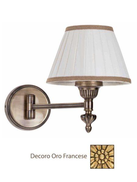 Applique da Comodino Ottone Snodabile Oro Francese