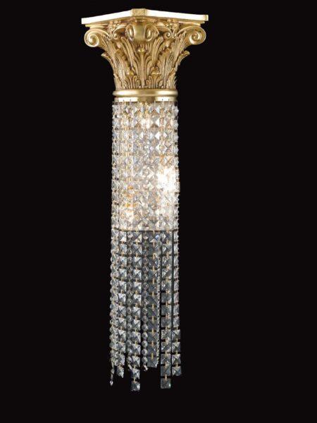 Applique Ottone Oro Francese Lavorato Cristalli Asfour