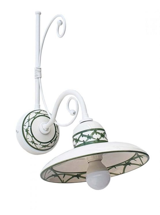 Applique Ceramica Bianco Intreccio Verde