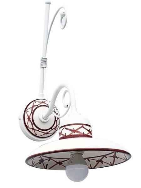 Applique Ceramica Bianco Intreccio Marrone