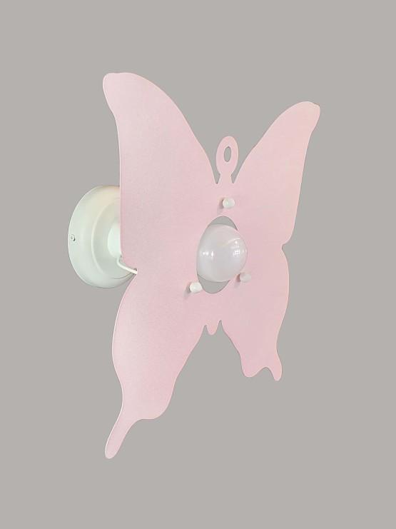Applique Farfalla Rosa Camerette Bambini
