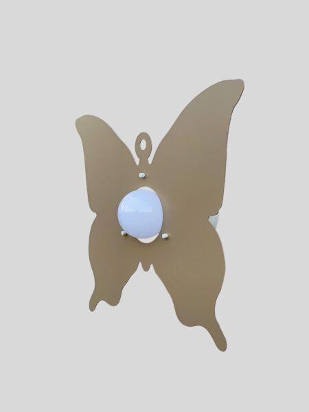 Applique Farfalla Tortora Camerette Bambini