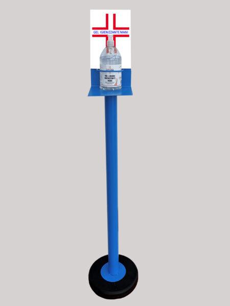Colonnina Piantana Azzurro Porta Gel Igienizzante Lavamani