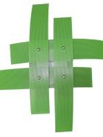 Plafoniera 4 Luci Moderna Metallo Verde