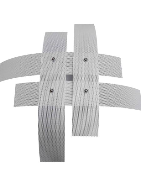 Plafoniera Moderna Bianco 4 Luci Metallo