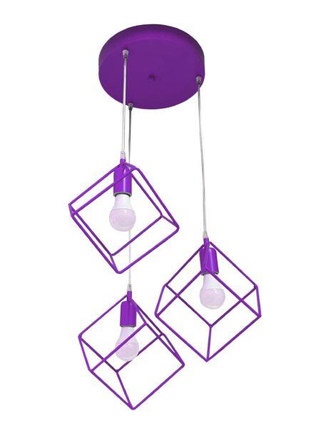 Lampadario Plafoniera Cubi Glicine