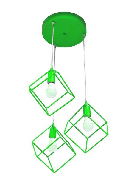 Lampadario Plafoniera Cubi Verde Mela