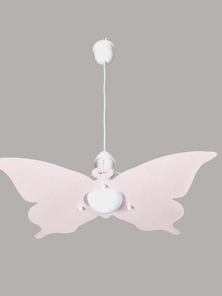 Farfalla Rosa Lampadario Bambini Sospensione Camerette