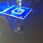 Tavolo quadrato plexiglass e led