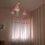 Lampadario paralumi rosa (2)