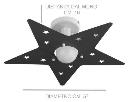 Misure plafoniera stella