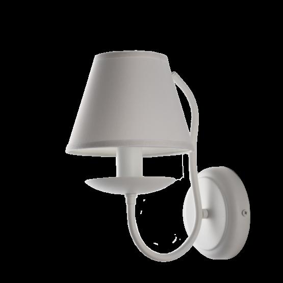 Applique Shabby Provenzale Minimal Bianco Paralume PVC