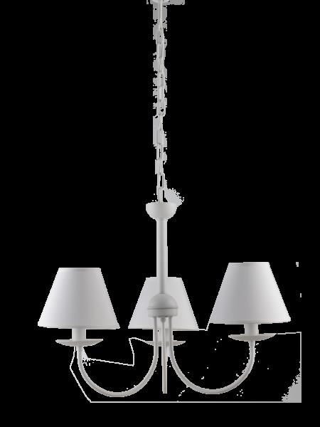 Lampadario Bianco 3 Luci Provenzale Shabby Chic