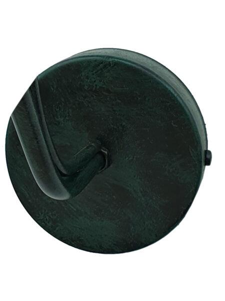 Applique Ceramica Decorata a Mano Ondulata Verde