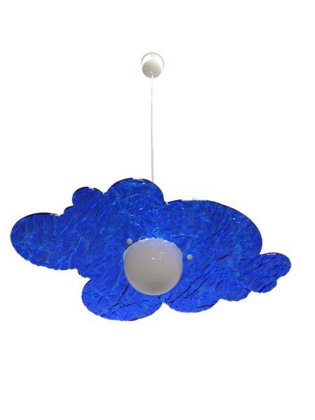 Lampadario Sospensione Plexiglass Ghiaccio Blu Camerette