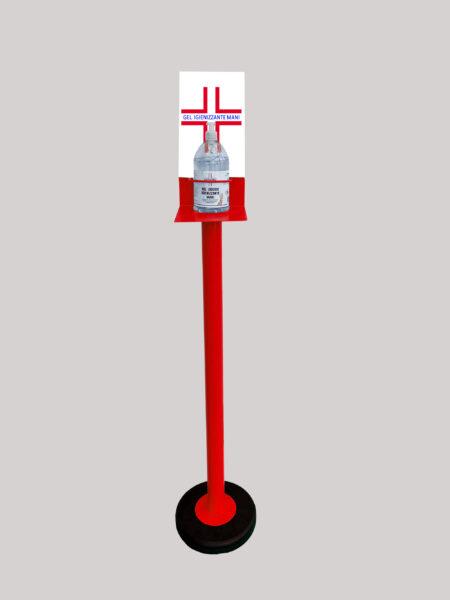 Colonnina Piantana Rosso Porta Gel Lavamani
