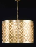 Sospensione Oro Lucido Strass Alto Design Diametro Cm 40