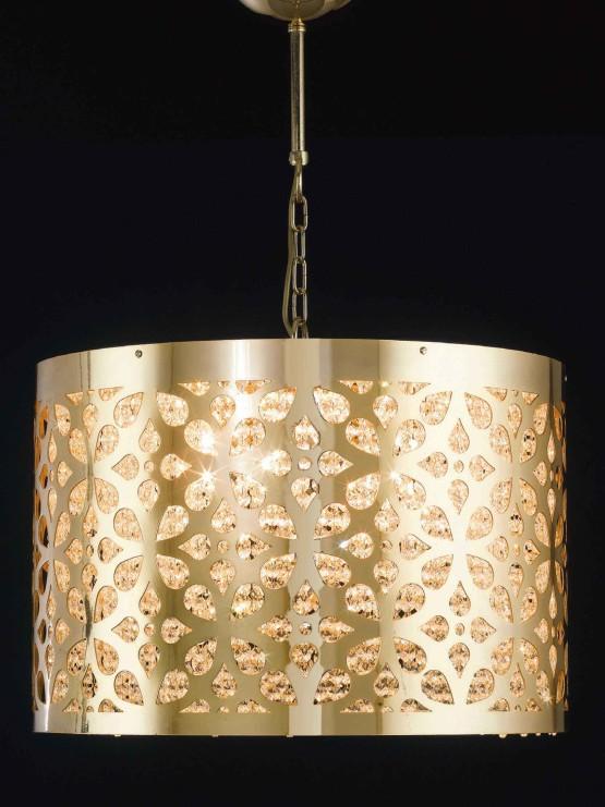 Lampadari Oro Lucido Design Innovativo Produzione Cm 60
