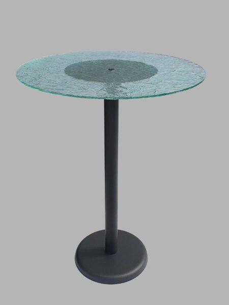 Tavolo in plexiglass effetto ghiaccio