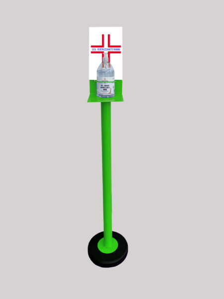 Colonnina Piantana Verde Porta Gel Igienizzante Lavamani