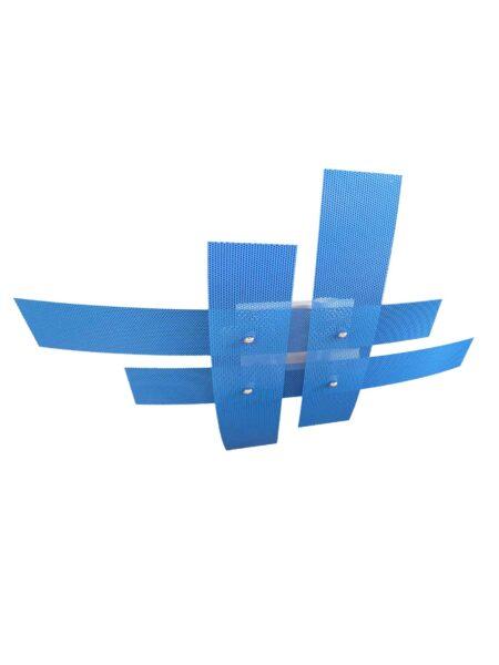 Plafoniera Moderna Azzurro 4 Luci  Metallo