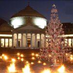 Piazza del Plebiscito Illuminata da un Albero in Cristallo