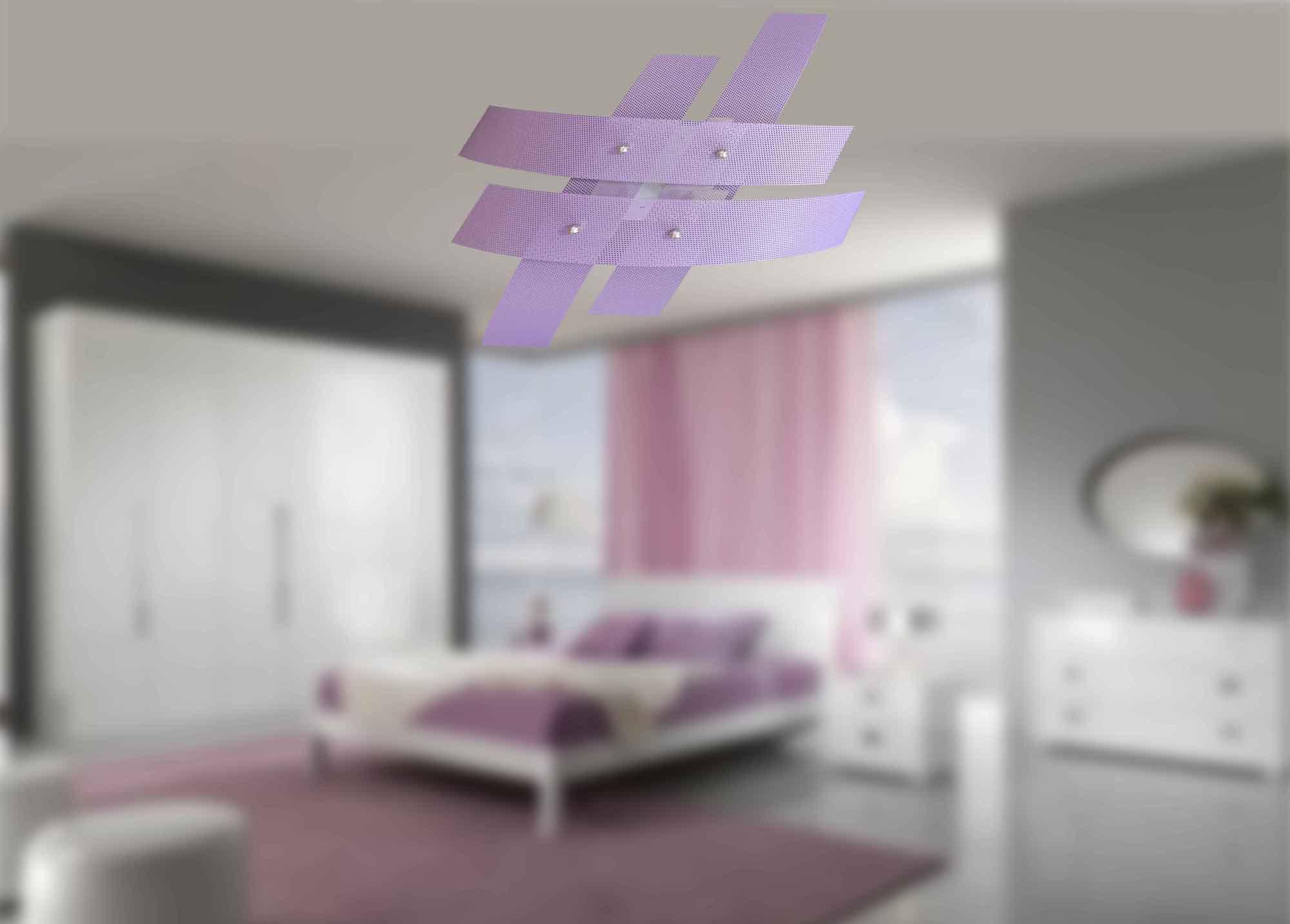 Plafoniere Moderne Per Camerette : Plafoniera 4 luci moderna metallo glicine la luce del futuro