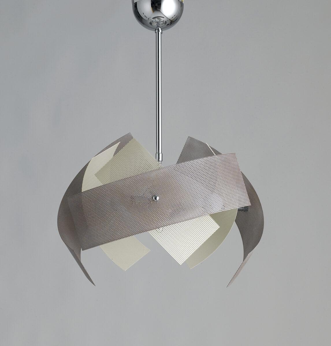 lampadario moderno 6 luci avorio tortora la luce del futuro