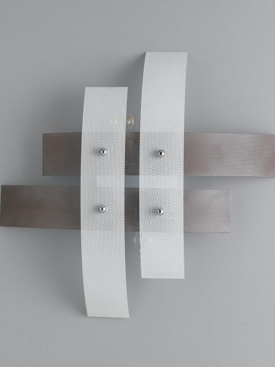 Plafoniera Moderna 4 Luci Tortora Bianco