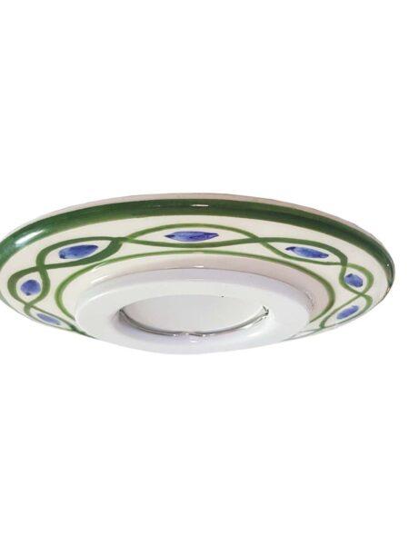 Faretto Incasso Ceramica Decoro Verde