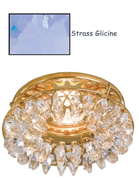 Faretto Incasso Oro Lucido Strass Swarovski Glicine