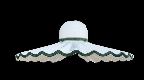 Piatto ceramica verde