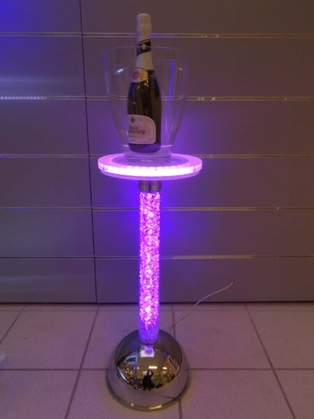 Colonna Porta Champagne Luce Led Strass